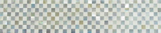 blue opal-nautilus checkers liner tile
