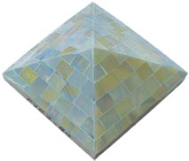 blue opal pyramid tile