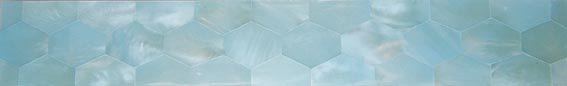 ice blue satin hex liner tile