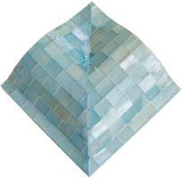 ice blue satin molding corner tile (blocking)