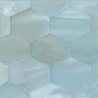 ice blue satin hex tile