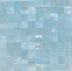 ice blue satin blocking tile