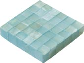 ice blue satin finished edge dot tile (blocking)