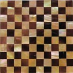 penshell-brownlip checkers tile