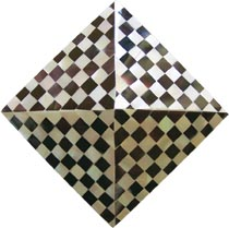 violet oyster-nautilus checkers pyramid tile