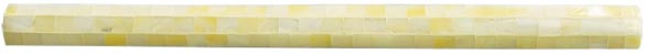 yellow opal rounded pencil tile (blocking)